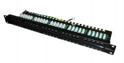 50 portu komutācijas panelis ECISA50-K1/BK